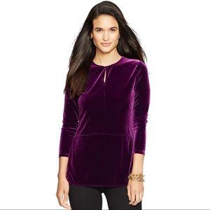 Purple Velvet Lauren Ralph Lauren Top